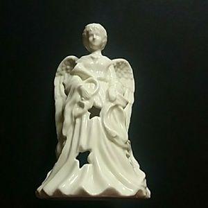 Angel Figurine Porcelain Candle Holder Guide Gift